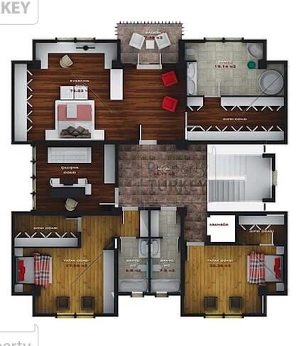 Villas second floor layout
