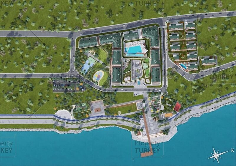 Blue Marina homes on Marmara seafront Istanbul - Property Turkey