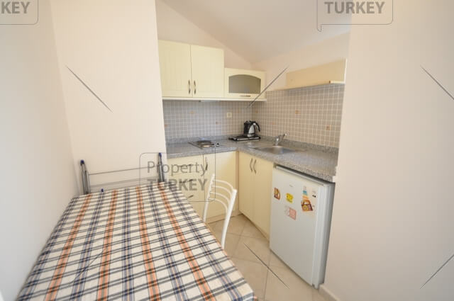 Apartment with small kitchenette