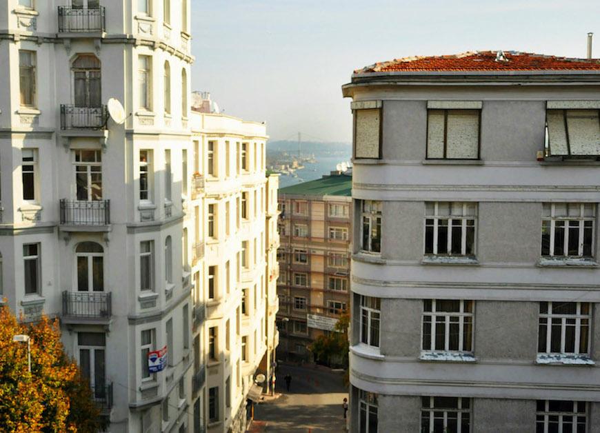 Modern sea view apartment for sale in Cihangir Istanbul