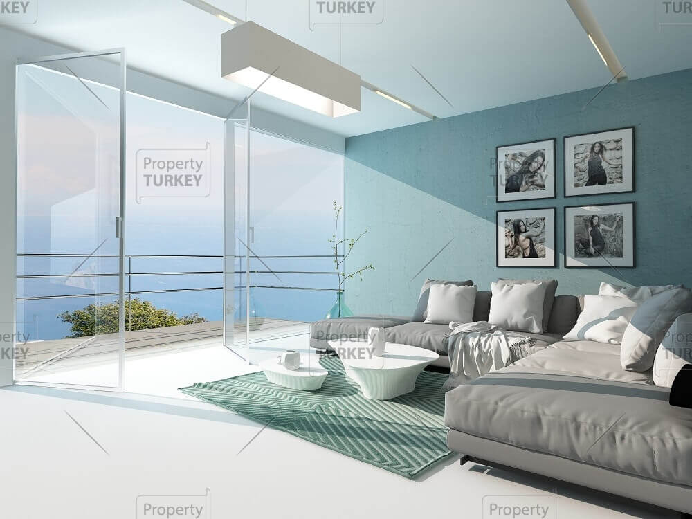 Ocean views from the living room