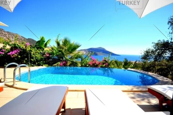 Ocean frontline villa for sale in Kalkan