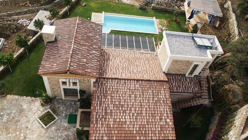Villas aerial views