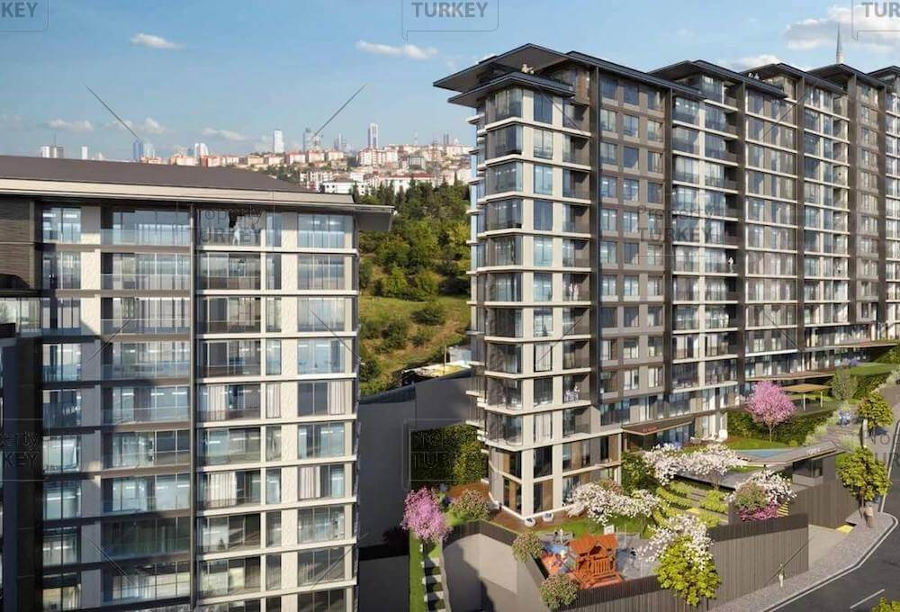 Modern family apartments for sale in Eyup Istanbul