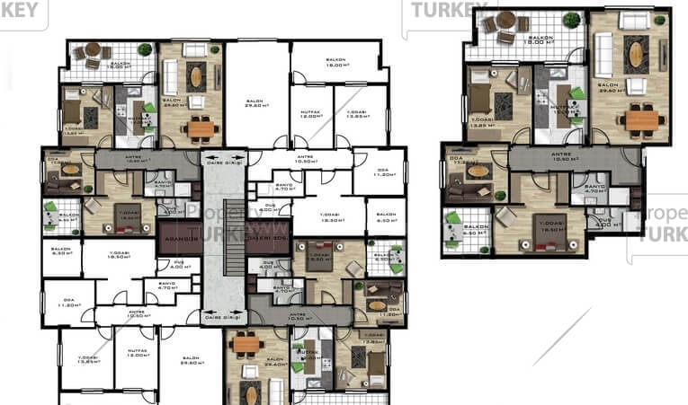 Apartments layout
