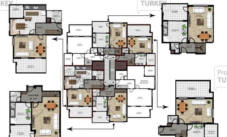 Complex layout