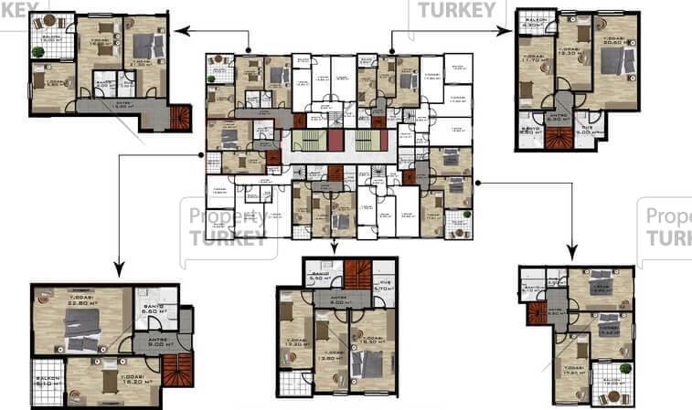 Residences layout