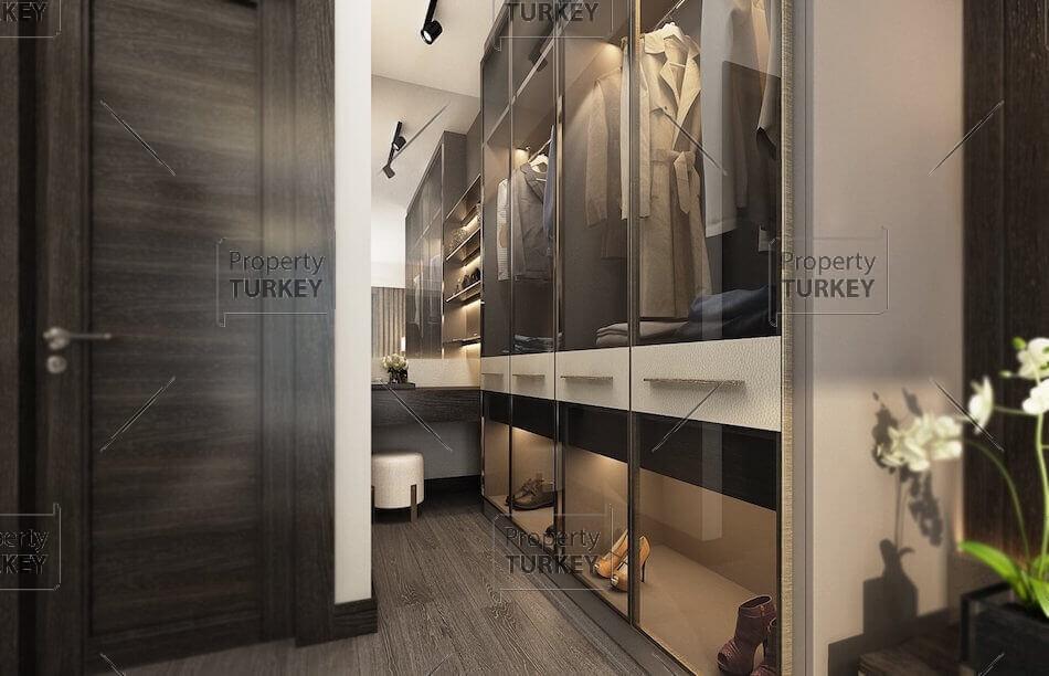 Bedroom with walking in closet