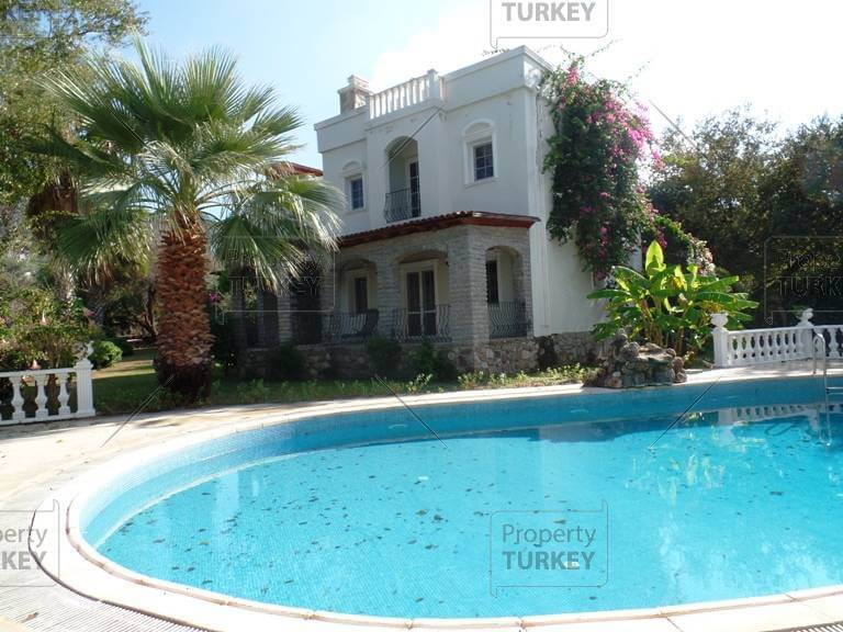Bodrum villa for sale lovely garden and pool