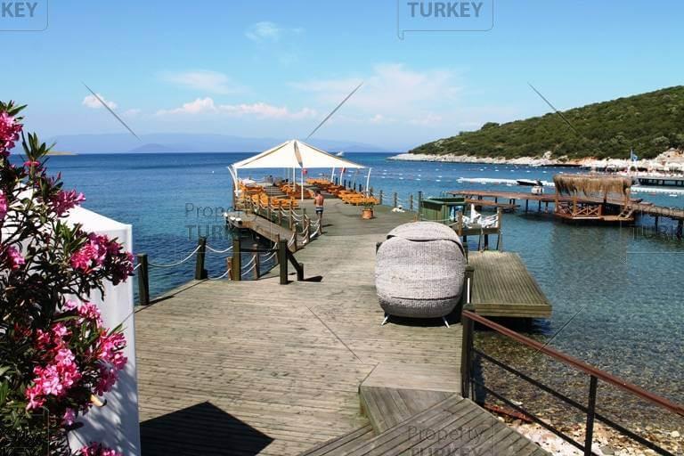 Water jetty beach for home in Turkbuku