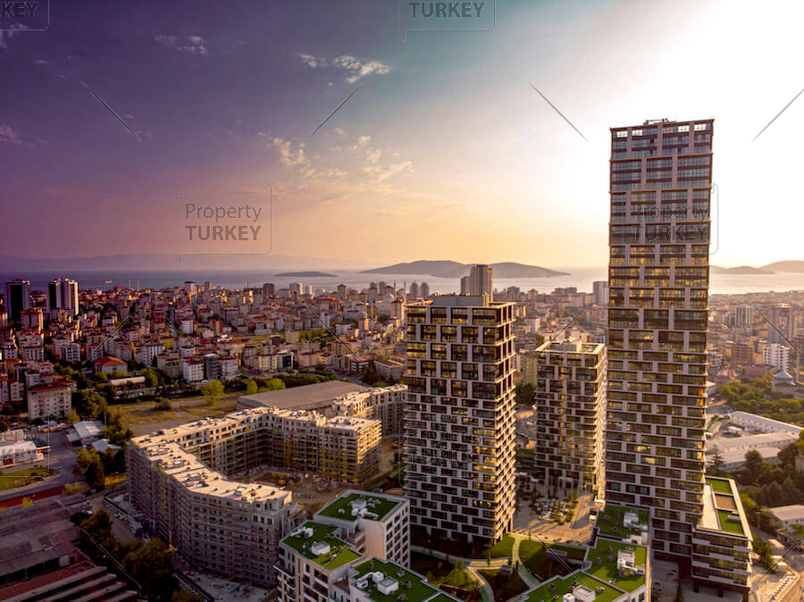 Spacious apartments with incredible views for sale in Kartal
