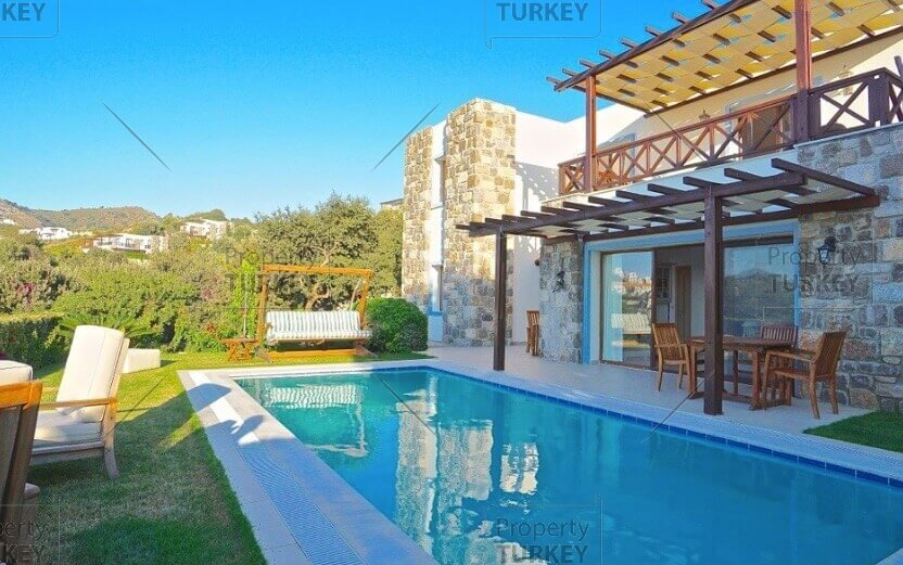 Gumusluk sea view villa for sale