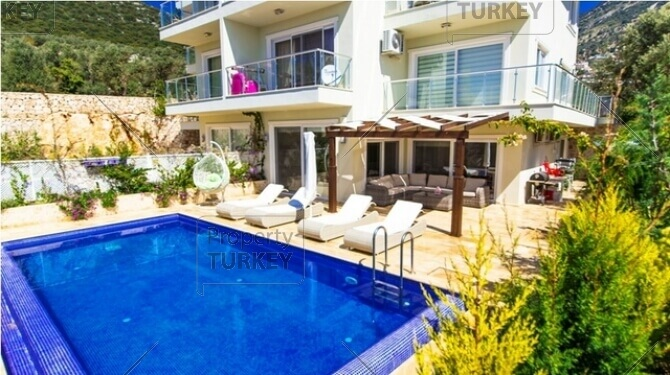 Kalkan apartment with pool
