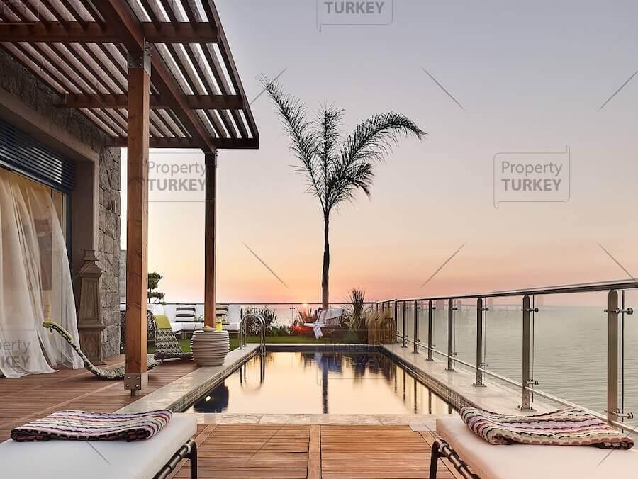 Yalikavak private beach villa for sale