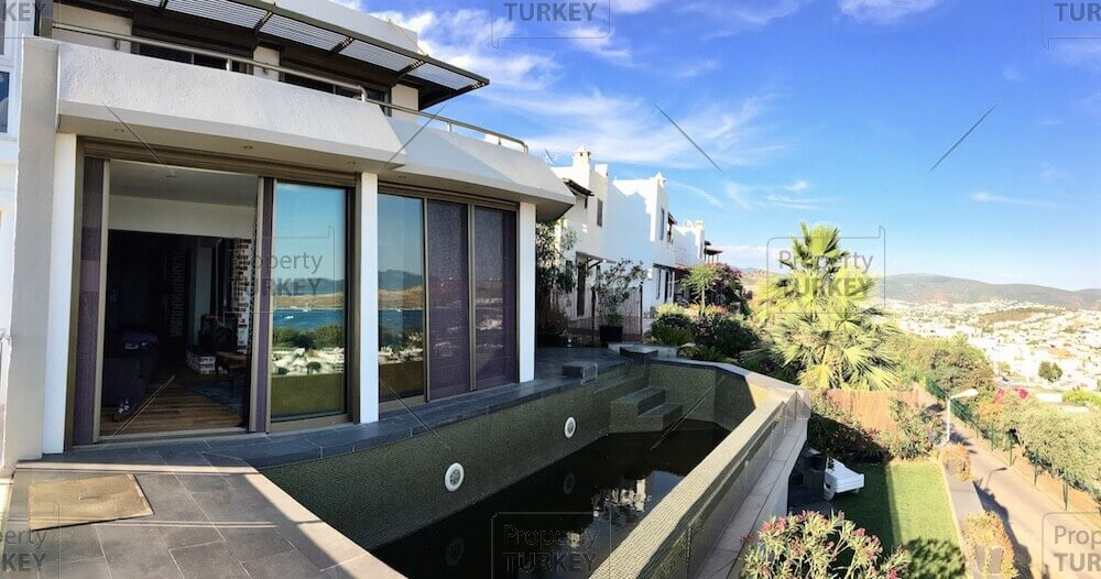 Detached sea view villa for sale in Bodrum