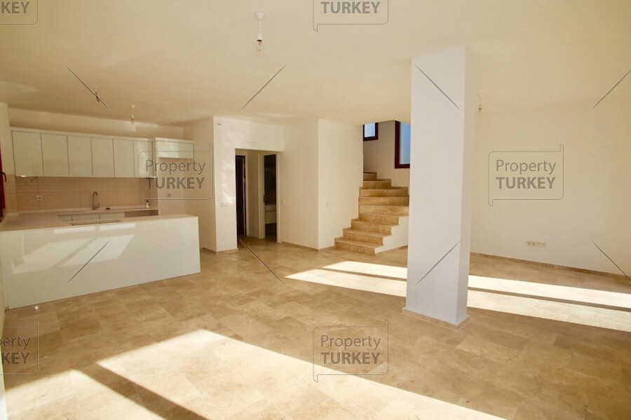Spacious front room and kitchen