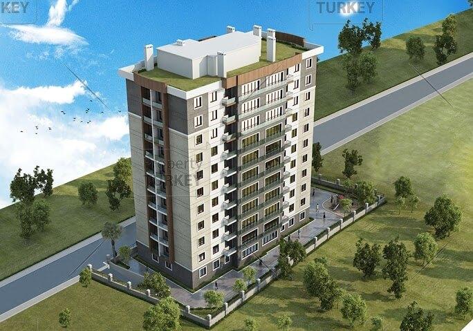 Apartment aerial view