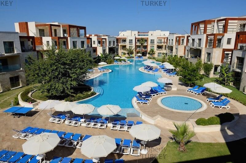 Swimming pools in the complex