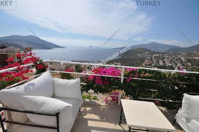 Villa with bay view for sale in Kalkan