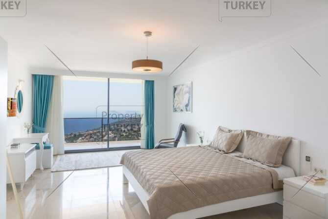 Sea views from the bedroom