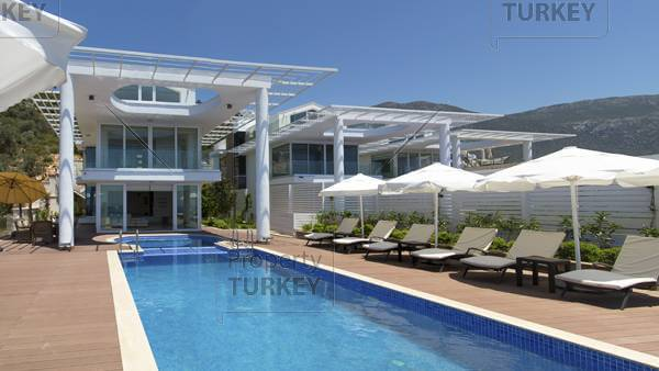Modern design full sea view house in Kalkan