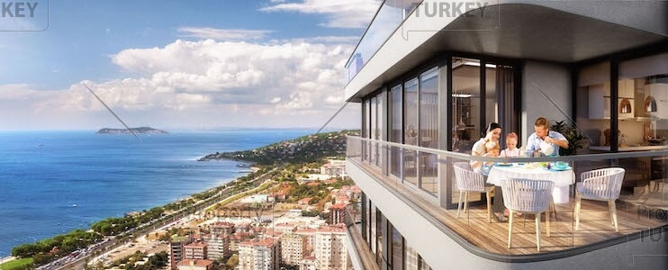 Sea view apartments for sale in Kartal