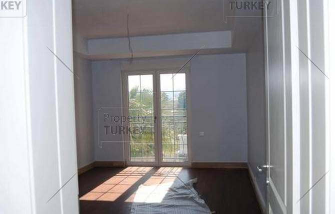 Large windows in room