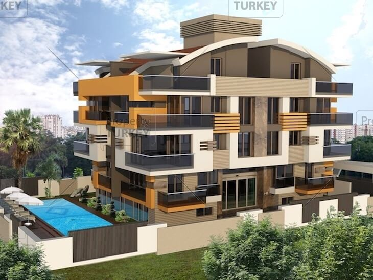 Residences close to the beach for sale in Konyaalti