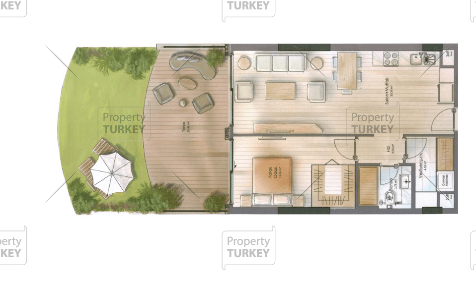 Apartments 1+1 site plasn