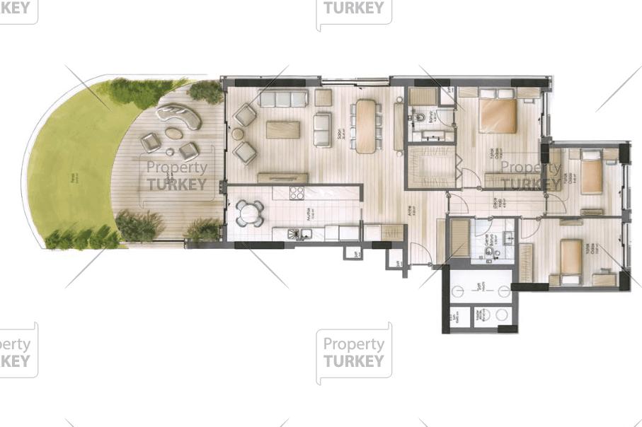 Apartments 3+1 site plans