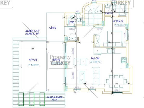 Plans of the ground floor