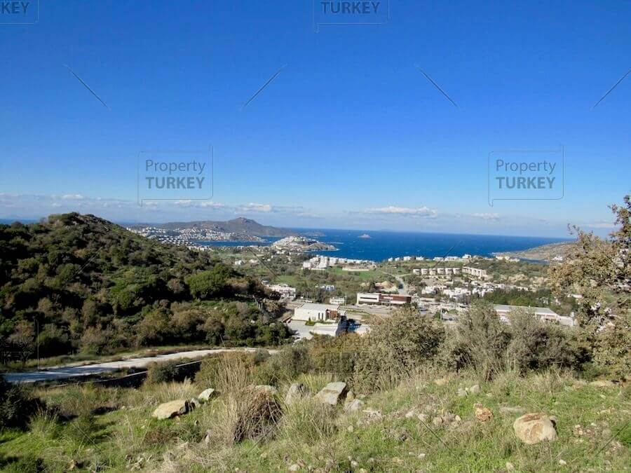 Sea views from investment plot in Yalikavak
