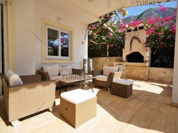 Backyard relaxing area