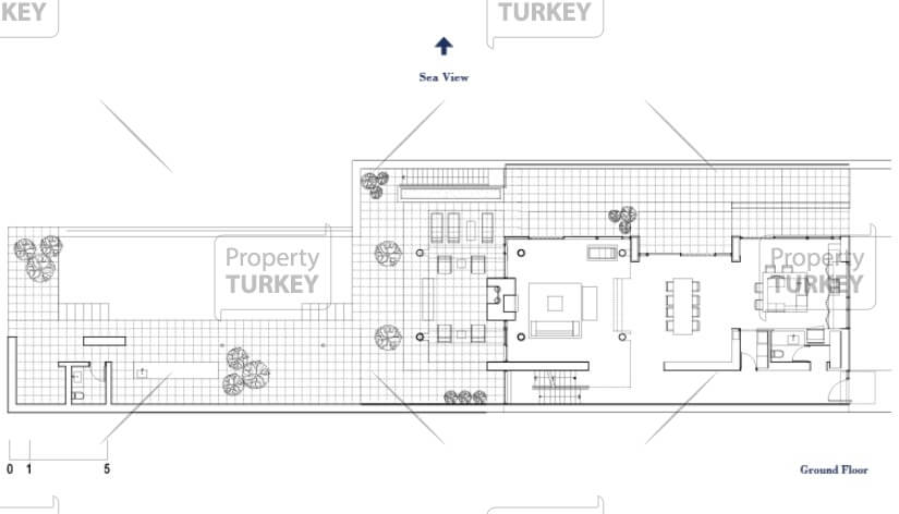 Site plans of the ground floor