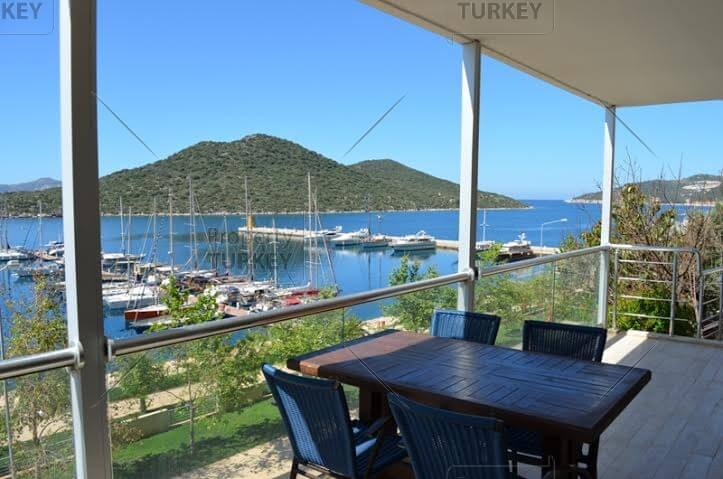 Marina view villa for sale in Kas