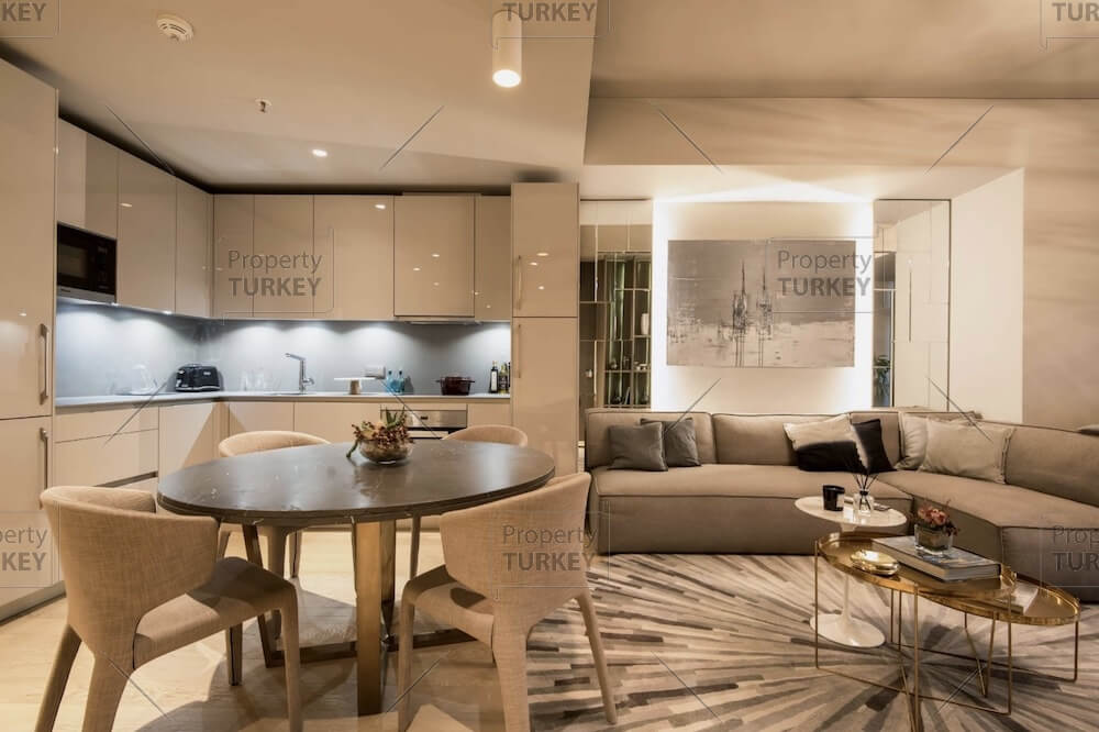 Fitted kitchen and living room