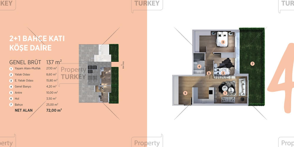 2 bedrooms apartments layout