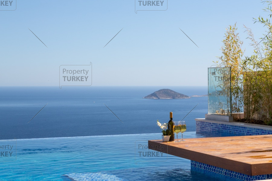 Sea view panorama villa for sale in Kalkan