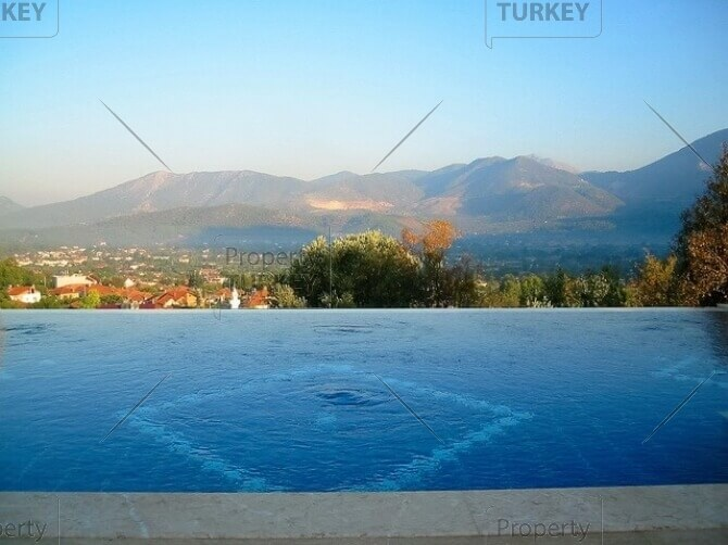 Uzumlu panoramic view villa for sale