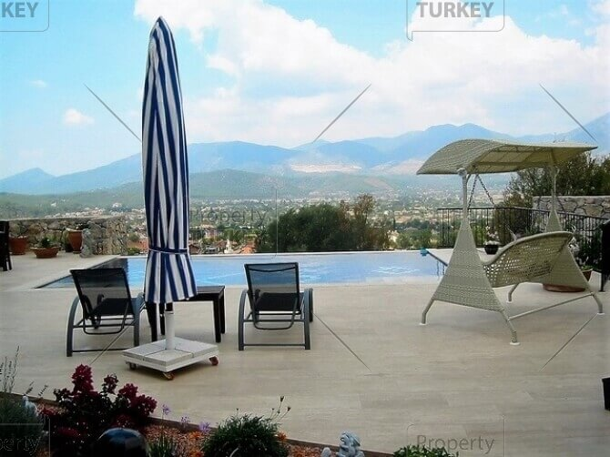 Outstanding panoramic view infinity villa in Uzumlu