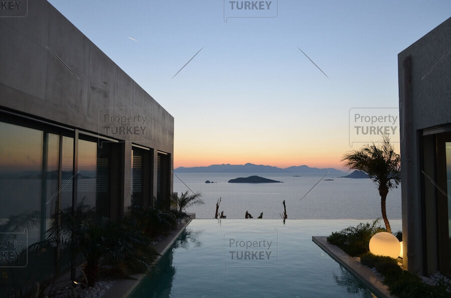 Sea views from the pool