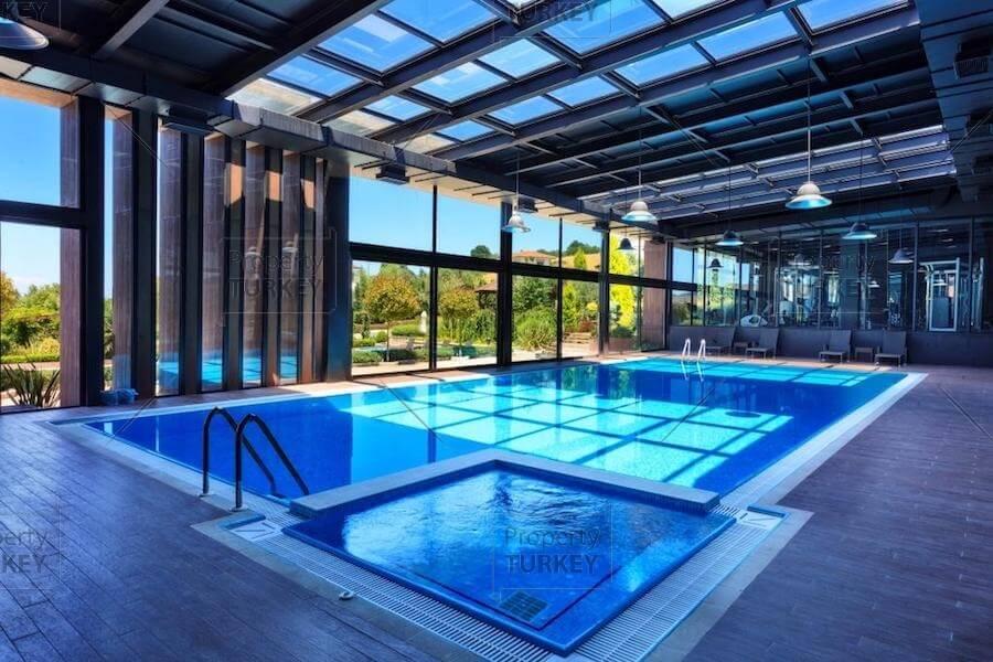 Complex indoor pool