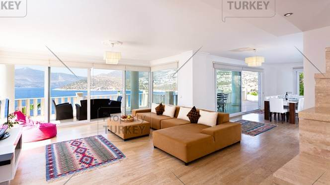 Panoramic living room Kalkan house
