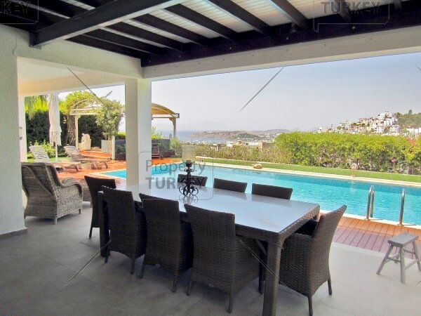 Eating area by the pool