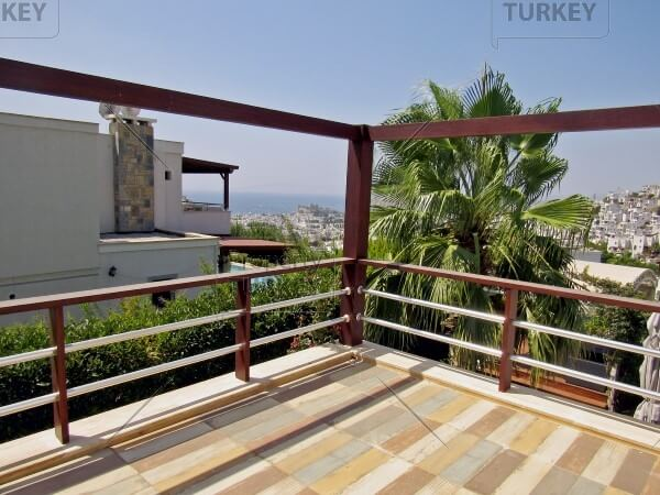 Large terrace with sea views