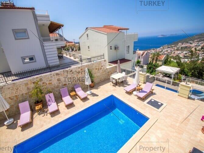 Sea view villa for sale in Kalkan