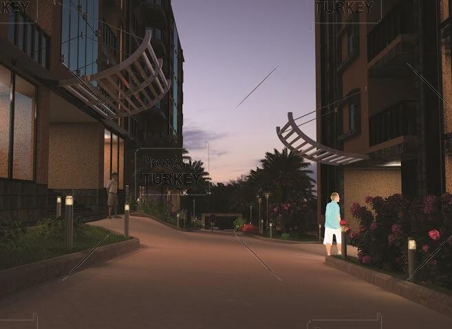 Buildings walking paths