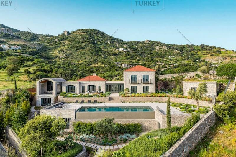 Exclusive Yalikavak Bay view dream stone houses in Bodrum