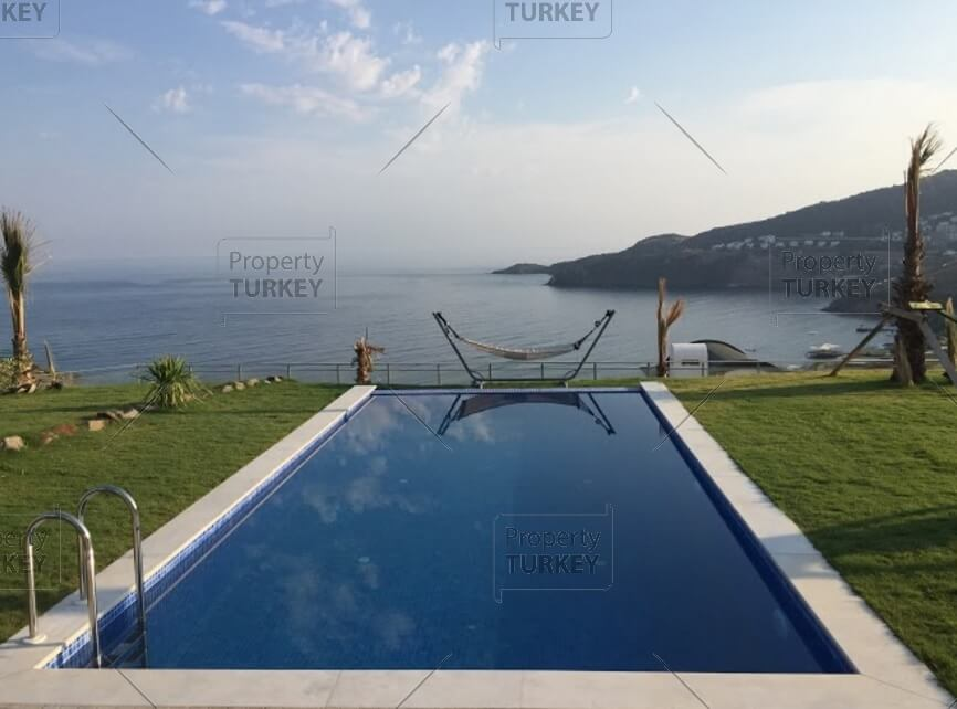 Stunning sea view from Yalikavak villa on the beach
