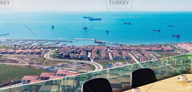 Stunning view from Marmara Azure apartments Istanbul